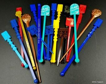 Group of 20 vintage plastic Casino swizzle sticks - vintage casino - vintage barware - vintage vegas - vintage swizzle sticks - swizzle