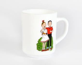 Vintage Decoration-mug-spike and Suzy