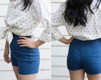 Vintage High Waisted Navy Blue Tap Pants