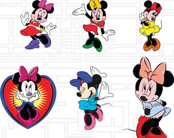 Minnie Mouse svg,png,jpg,eps for Print/ Silhouette Cameo/Cricut and Many More