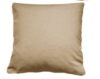 Beige Cushion cover 60 x 60 cm of fabric