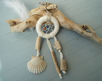 dream catcher door keys driftwood and shell