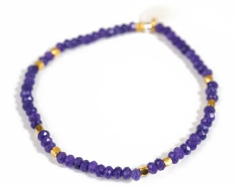 Bracelet gemstones and Vermeil beads