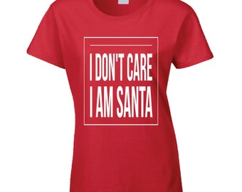 Christmas Xmas Santa Claus Elf Woman Women T-shirt