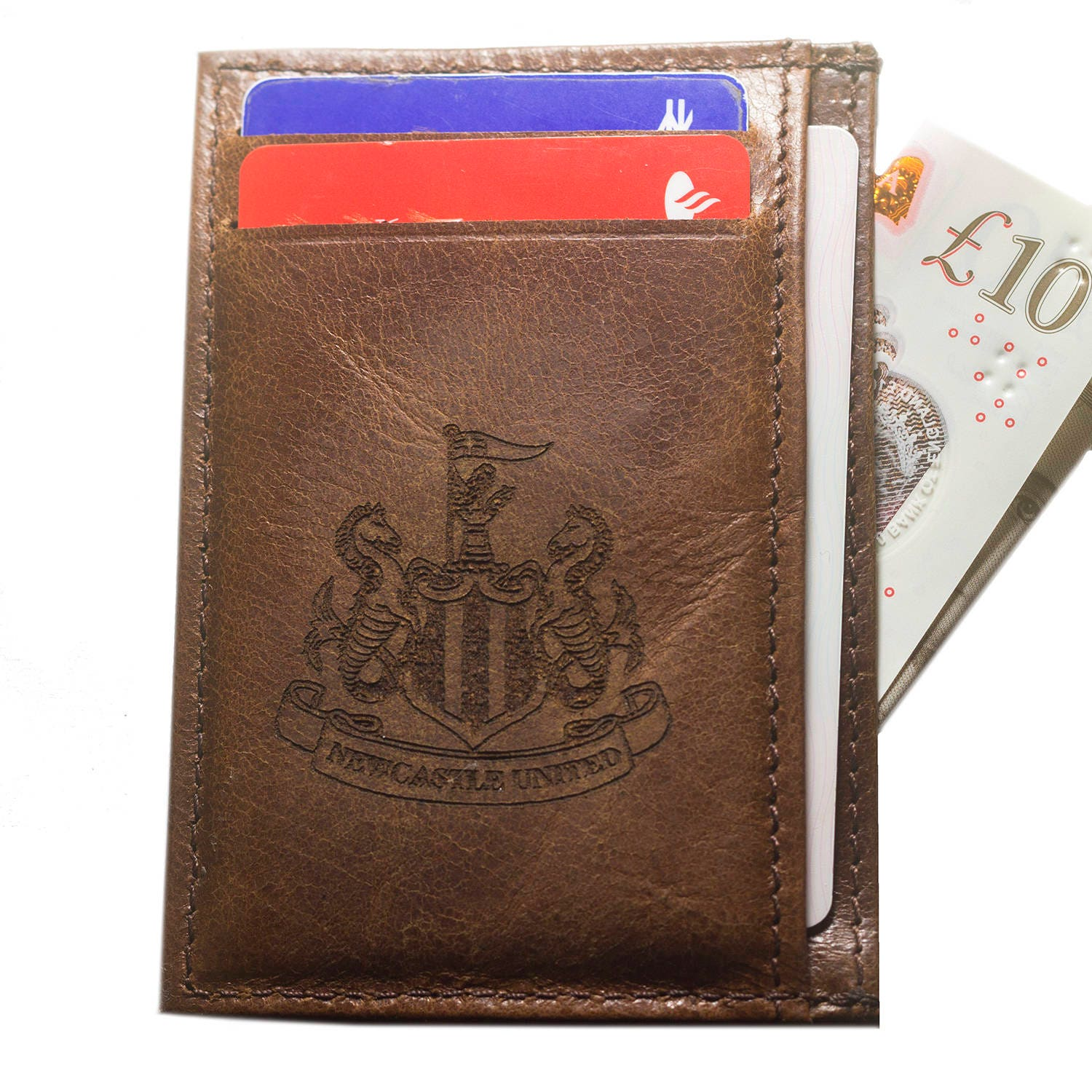 NEWCASTLE F.C. Real Leather Credit ID Business Card Holder Oyster ...