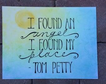 Tom Petty Lyrics Print