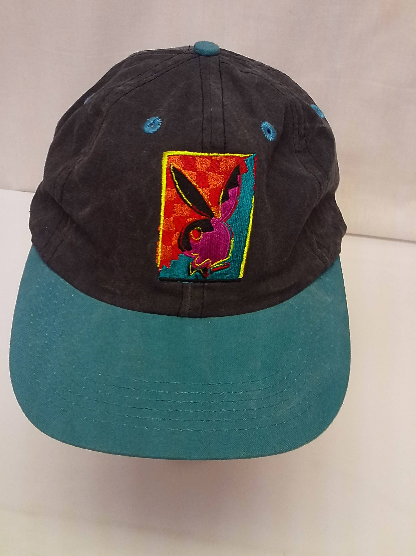 9217369e77dbc Vintage Playboy Bunny Gentleman s Gray and Green Snap back Baseball Hat Cap