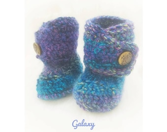 Crochet Dapper Baby Booties-Baby Boy Clothes - Baby Photo Prop - Newborn Baby - Newborn Girl Coming Home Outfit - Baby Girl Shoes - uggs
