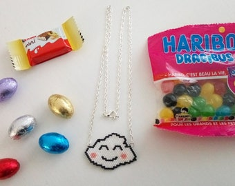 Fancy cloud hand woven necklace