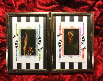 Barbara and Adam from Beetlejuice framed