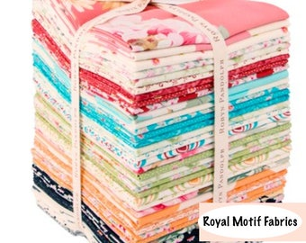 Robyn Pandolph Mon Cheri Fat Quarter Bundle - 39 Precut Cotton Fabric Fat Quarters by RJR Fabrics