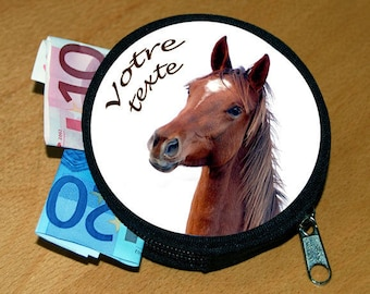 Wallet personalized horse name or text