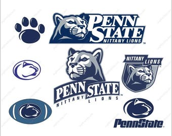 Penn State Nittany Lions Svg bundle football party Svg Dxf Eps Png Ai Digital File design Print Mug Shirt Decal
