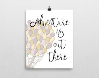 disney office decor. adventure is out there print at home downloadable image office and disney decor
