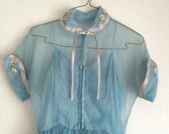 Baby Blue 1950's Dress
