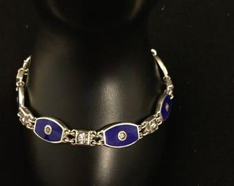 INCREDIBLE  STERLING & Enamel Bracelet