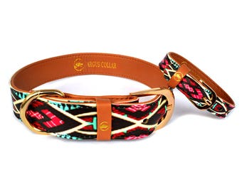 "The ""Boho"" Collar / Dog collar with a matching friendship bracelet for the owner"