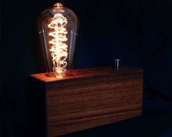 Edison Lamp Vintage Lamp Industrial Lamp Concrete Lamp Rustic Lamp Handmade Lamp Table Lamp Desk Lamp Edison Bulb Custom Lamp Decorative