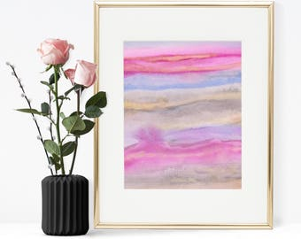 Abstract Watercolor Wall art, Printable Wall art