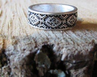 Fern Flower Ring, Slavic Flower of Perun Ring, Slavic Jewelry