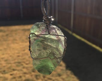 Wire-wrapped Fluorite Necklace