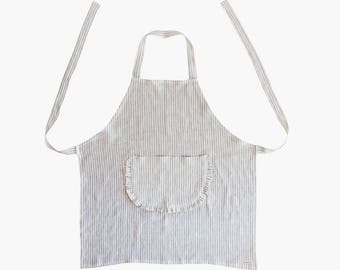 Apron apron - cooking apron - linen apron with stripes Nilla from linen