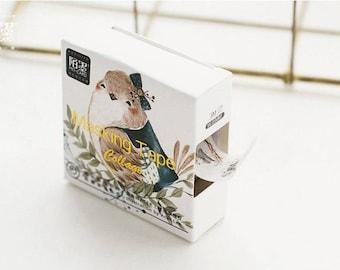 Bird washi tape, Wren, Bullet journal accessories, planner, bird lover, cute tape, nature, small bird, Japanese design, scrap book