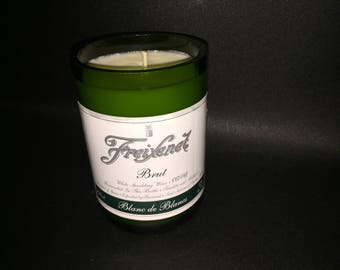 HANDCRAFTED Candle UP-CYCLED  Freixenet  Brut Champagne Wine Bottle Soy Candle. Made To Order !!!!!!!