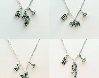 Harry Potter / Sorting Hat / Harry Potter House Inspired Charm Necklace