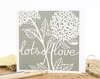 Lots of love card, Wedding card, Romantic card, Anniversary card, Valentines card, Card for wife, Card for girlfriend, Card for her