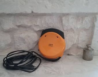Extra electric heater, blowing orange Vintage KRUPS Solitair 466 type, Made in Germany - 70's
