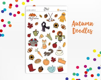 Autumn Sampler- Planner Stickers; Fall, Leaves