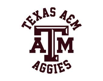 Texas A&M University Aggies Cut Files, Texas Aggies SVG Files, Texas Aggies Svg Cutting File, Texas ATM University SVG File Instant Download