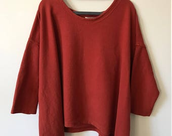 Vintage Over-sized Rust Top