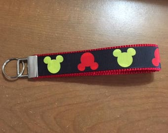 SALE Classic Mickey Mouse Key Fob Wristlet