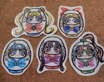 Daruma Sailor Senshi Sticker Set