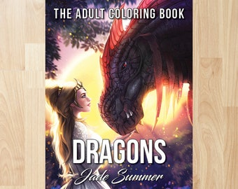 Dragons by Jade Summer (Coloring Books, Coloring Pages, Adult Coloring Books, Adult Coloring Pages, Coloring Books for Adults)