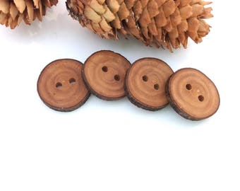3/4'' Branch Buttons, Set of 4, Olive tree buttons, Handmade Wood buttons, Eco/ Natural buttons, Knitting Sewing supplies, 2 cm