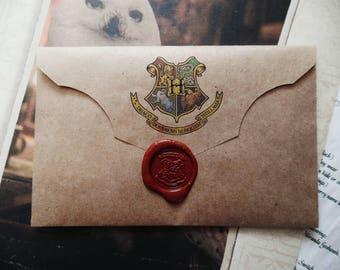 Hogwarts Acceptance Letter/Hogwarts acceptance letter with Hogwarts express ticket/Harry Potter acceptance letter/Hogwarts Letter envelope