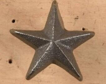 Cast Iron Mini Star Nail, star nail, metal star, rustic star,