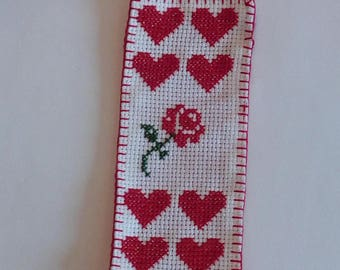 Bookmark pink and hearts for mother's day