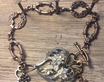 Vintage Brooch Bracelet