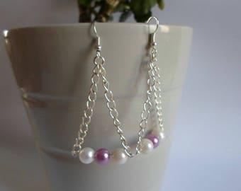 Beads and chain earrings