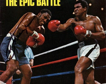Muhammad Ali and Joe Frazier Autographed Signed Sports Illustrated Magazine Cover PSA
