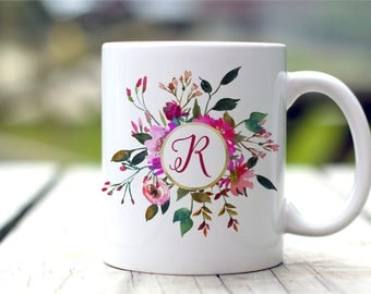Monogram Mug, Personalized Coffee Mug, Gift For Her