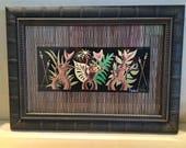"FRAMED PRINT ""Mewey Kaliki Maka"" Tiki Modern Cats Kitties Hula Ukulele Tropical Hawaiian Polynesian RARABIRD Art Painting"