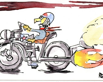 "Original sketch drawing ""Breeze Rider"""