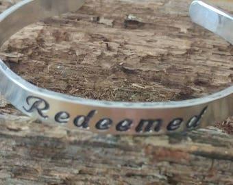 Redeemed cuff bracelet