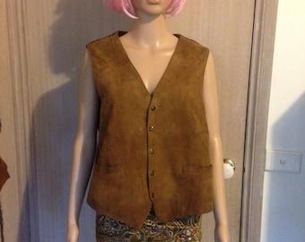 Vintage suede tan vest