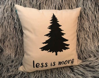 Less is More Cabin Decorative Pillow Lake Pillow Decorative Throw Pillow Forest Decor Mountain Simple Decoration
